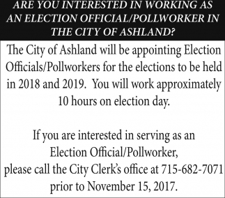 Election Official/Pollworker
