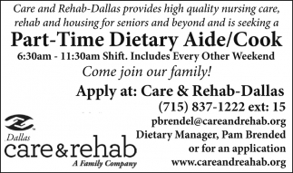 Part-Time Dietary Aide/Cook