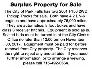 Surplus Property for Sale