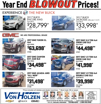 Year End Blowout Prices!