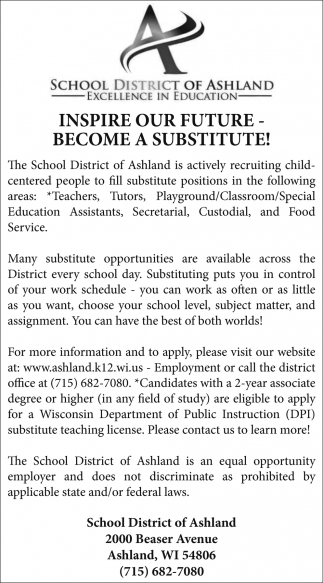 Become a substitute!