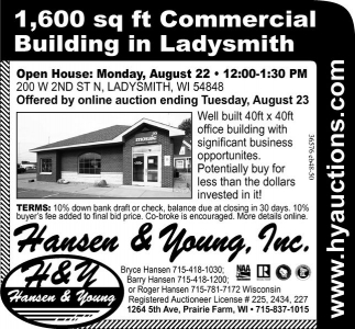 1,600 sq ft Commercial Building in Ladysmith