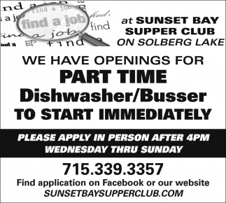 Dishwasher/Busser