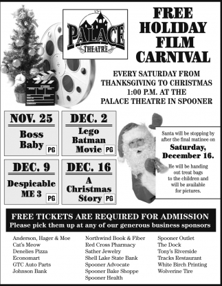 Free Holiday Film Carnival