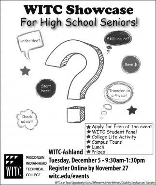 WITC Showcase for High School Seniors