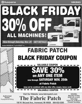 Black Friday 30% off