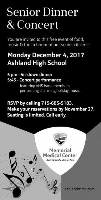 Senior Dinner & Concert