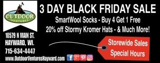 3 Day Black Friday Sale