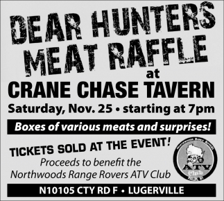 Dear Hunters Meat Raffle