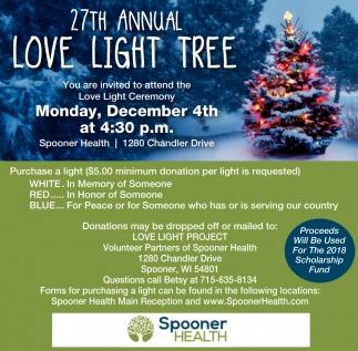 27th Annual Love Light Tree