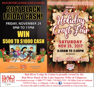 2017 Black Friday Cash! / Annual Holiday Craft Fair