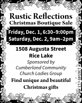 Rustic Reflections Christmas Boutique Sale, Cumberland Community ...