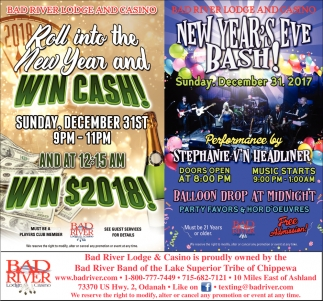 Win Cash / New Year's Eve Bash!
