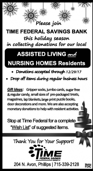 Donations For Assisted Living And Nursing Homes Residents Time