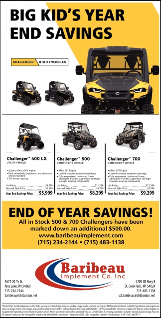 End of year savings!
