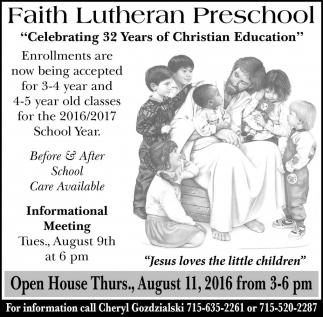Celebrating 32 Years of Christian Education