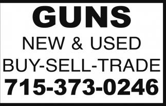 BUY-SELL-TRADE, Guns New & Used, Washburn, WI