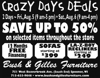 CRAZY DAYS DEALS