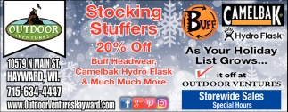 Stocking Stuffers 20% off
