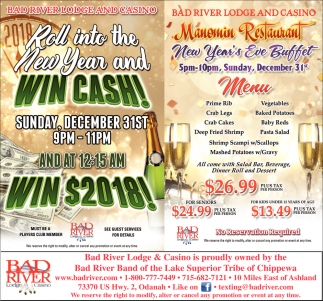 Win Cash / New Year's Eve Buffet