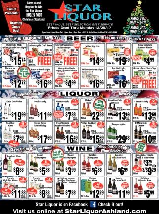 Beer, Liquor, Wine