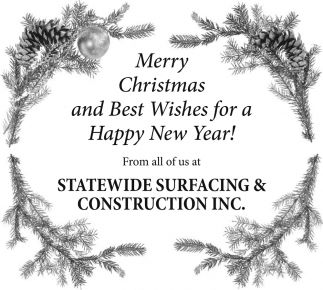Merry Christmas And Best Wishes For A Happy New Year Statewide