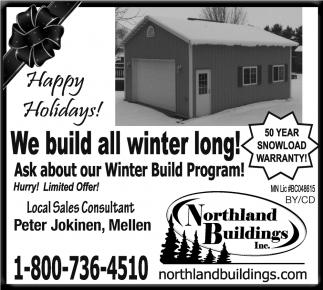 Annual Winter Build Program