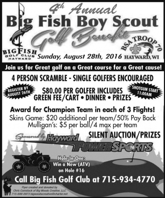 4th Anuual Big Fish Boy Scout Golf Benefit