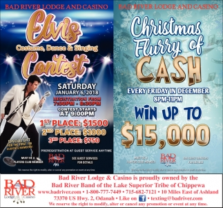 Elvis Contest / Christmas Flurry of Cash