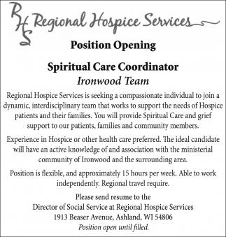 Spiritual Care Coordinator
