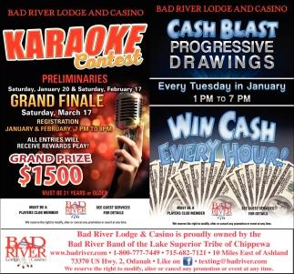 Karaoke Contest / Cash Blast