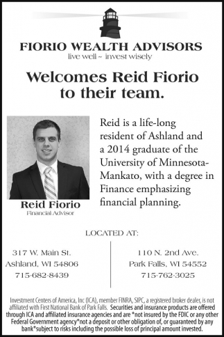 Welcomes Reid Fiorio to their team