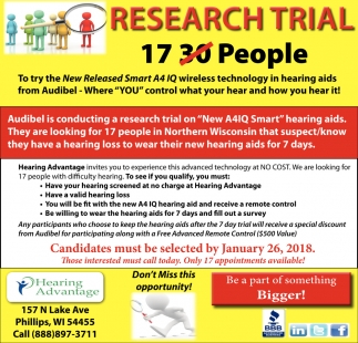 Research Trial 17 People
