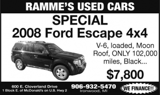 SPECIAL 2008 Ford Escape 4x4