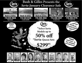 Serta January Clearance Sale