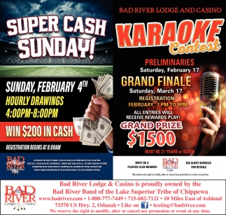 Super Cash Sunday / Karaoke Contest