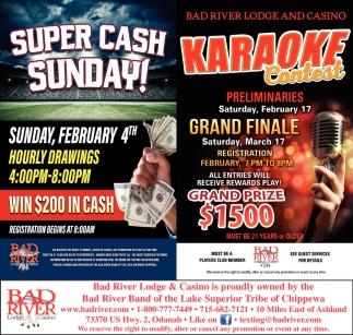 Super Cash Sunday / Karaoke Contest