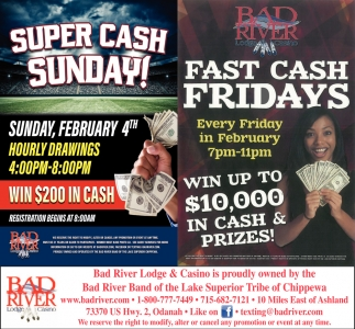 Super Cash Sunday! / Fast Cash Fridays
