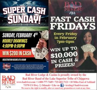 Super Cash Sunday! / Fast Cash Fridays