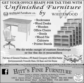 Unfinished Furniture by Whitewood Industries