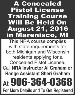 Pistol License Training Course