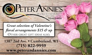 Great selection of Valentine's floral arrangements $15 & up