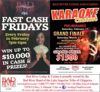Fast Cash Fridays / Karaoke Contest