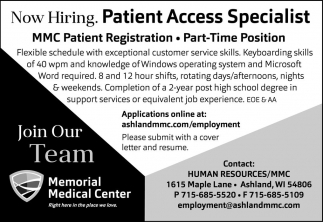 Patient Access Specialist