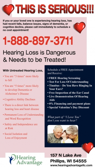 Hearing Loss is Dangerous & Needs to be Treated!