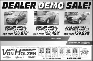 Dealer Demo Sale!