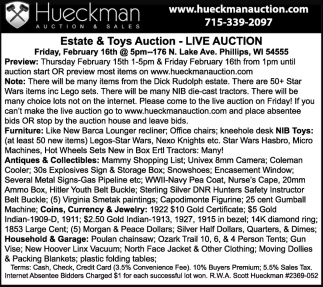 Estate & Toys Auction