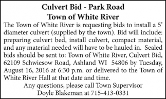 Culvert Bid - Park Road