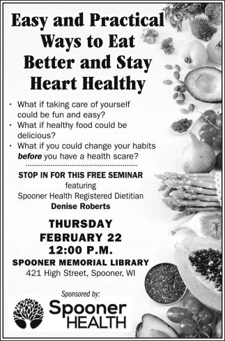 Heart Healthy FREE Seminar