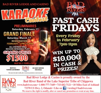 Karaoke Contest / Fast Cash Fridays
